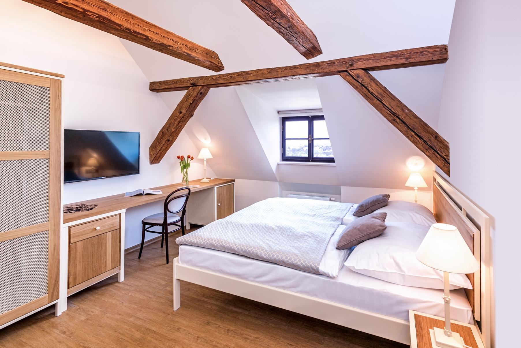Pokoj v nově otevřeném Hotelu Zámek Svijany