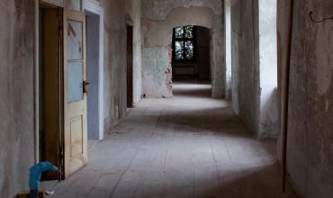 Chodba zámku v původním stavu
