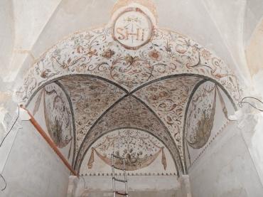 Kaple stropní malby - Zima