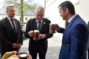 Prezidenta republiky přivítal Roman Havlík